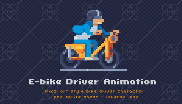 Bike driver animation