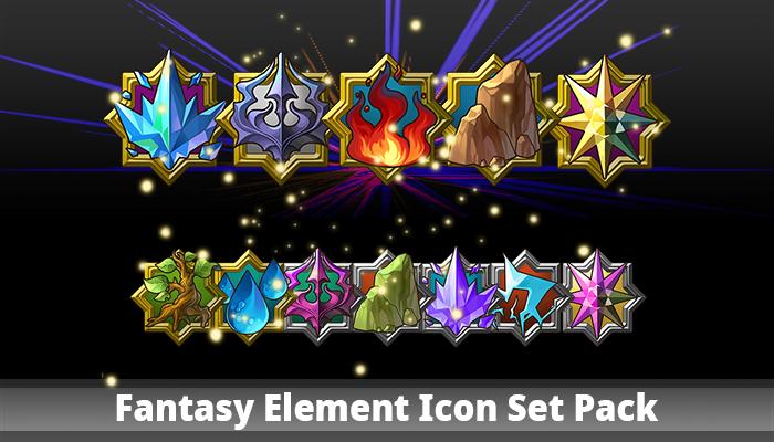 Fantasy Element Icon Set Pack