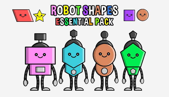 Robot Shapes – Essential Pack