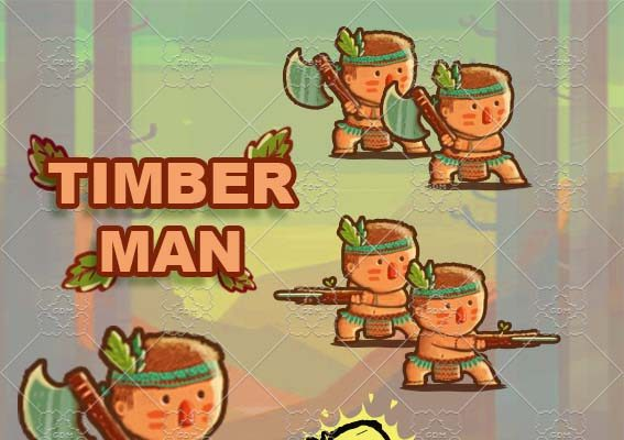Animation Cute TimberMan