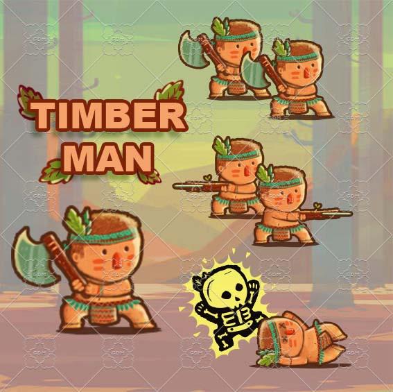 Animation Cute TimberMan