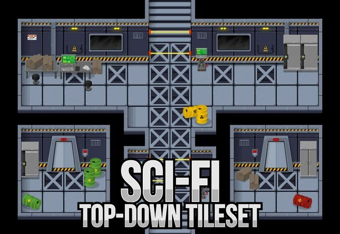 Sci-fi Top Down Tileset
