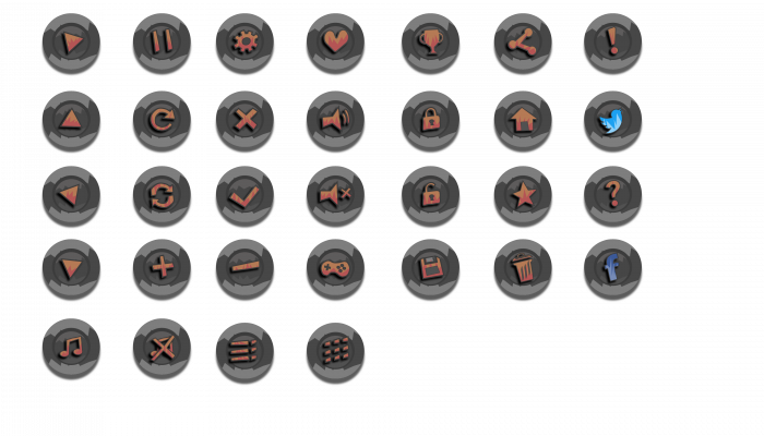 Game Icon Buttons FREE