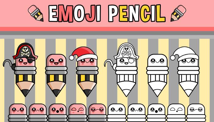 Emoji Emotion Faces Pencil