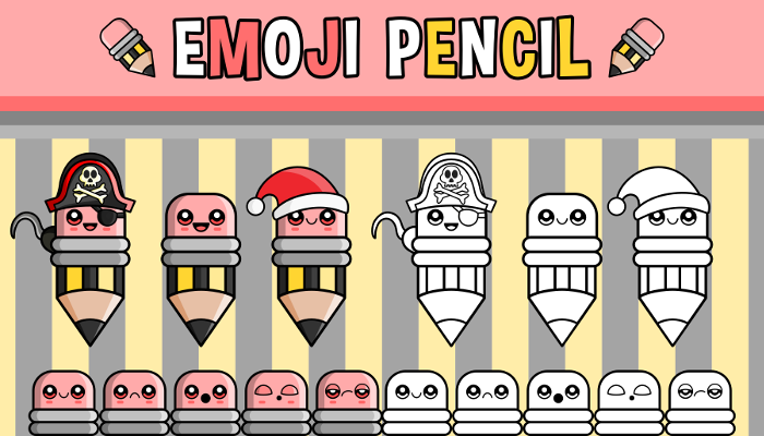 Emoji Emotion Faces Pencil