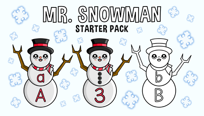 Snowman Alphabet Letters And Numbers