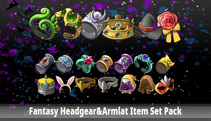Fantasy Headgear&Armlat Item Set Pack