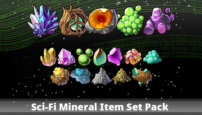 Sci-Fi Mineral Item Set Pack