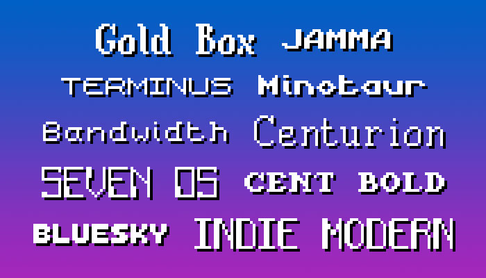 Pixel Font Pack