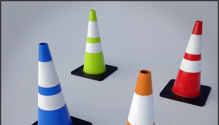 Traffic Cone game asset multi-pack