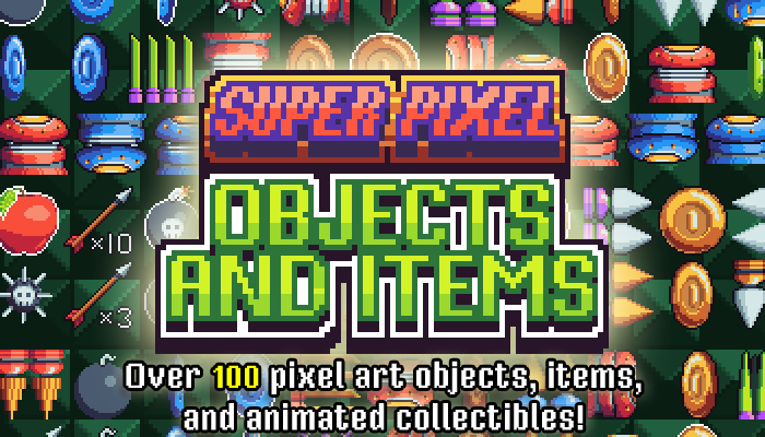 Super Pixel Objects and Items