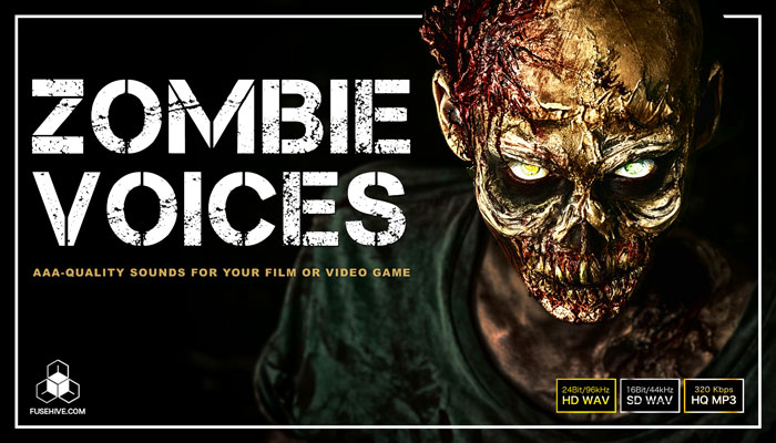 ZOMBIE VOICE SAMPLES – Creepy Horror Game Character Voices – Humanoid Monster Sound Effects Library