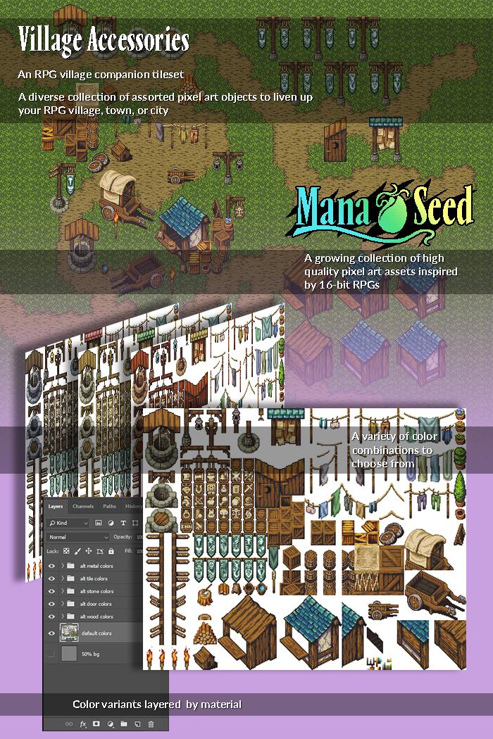 Village Accessories – Pixel Art Asset