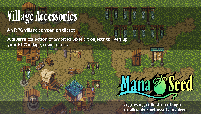 Village Accessories – Pixel Art Asset