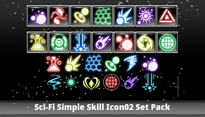 Sci-Fi Simple Skill Icon02 Set Pack