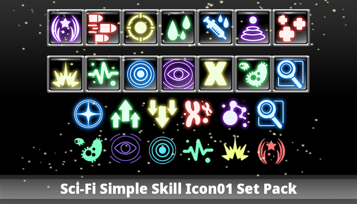 Sci-Fi Simple Skill Icon01 Set Pack