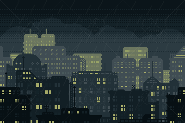 City Night Background (200×200 pixels, includes an animated GIF version with rain)