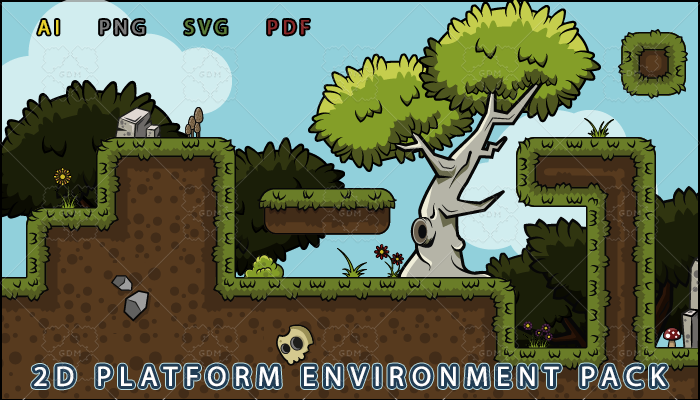 2D platform environment pack