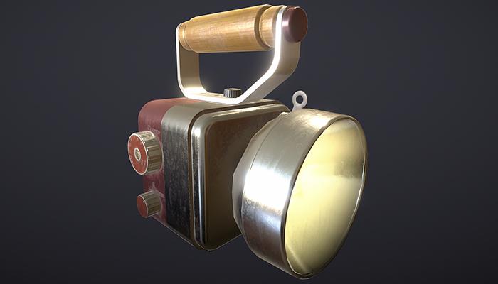 Realistic Retro Flashlight