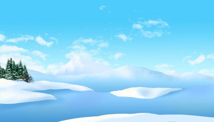 2D Arctic background