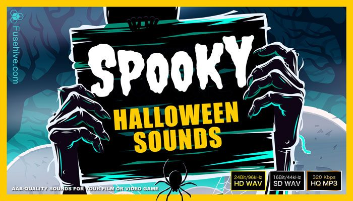 SPOOKY HALLOWEEN SOUND EFFECTS LIBRARY – Scary, Horror and Creepy Sounds, Ambiences, Voice Over and Foley Sample Pack [Fusehive.com]