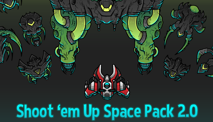 2D Space Shooter Pack 2.0