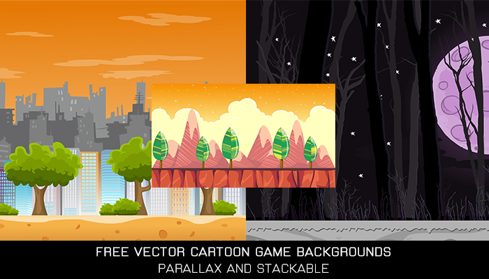 Free Vector Cartoon Game Backgrounds