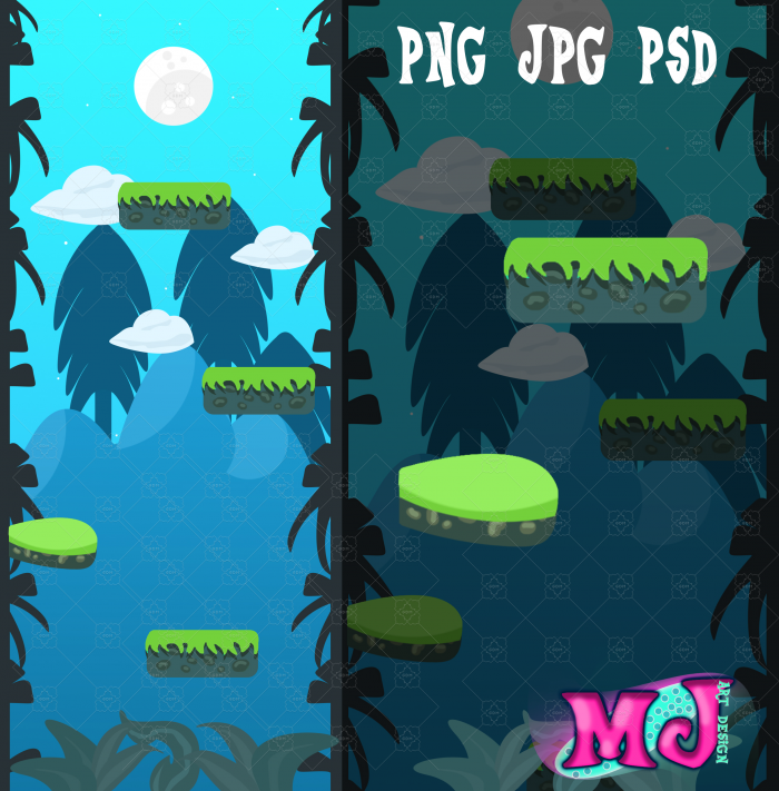 VERTICAL 2D GAME BACKGROUNDS FREE