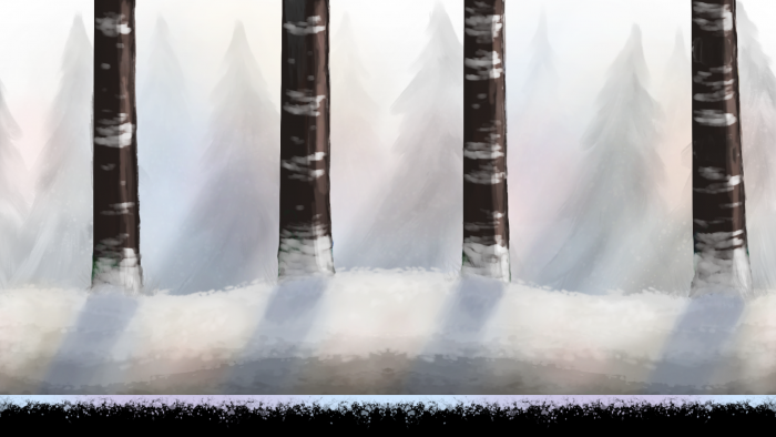 Multi Layered Winter Forest Background