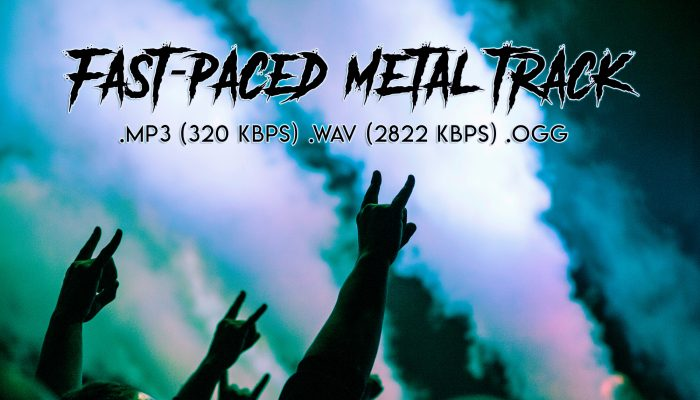 Fast Paced 190 BPM Metal-Rock Track