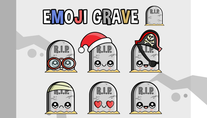 Halloween – Emoji Emotion Faces Grave