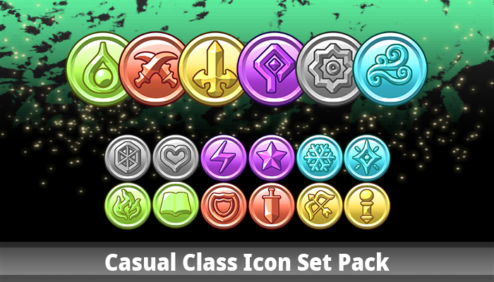 Casual Class Icon Set Pack