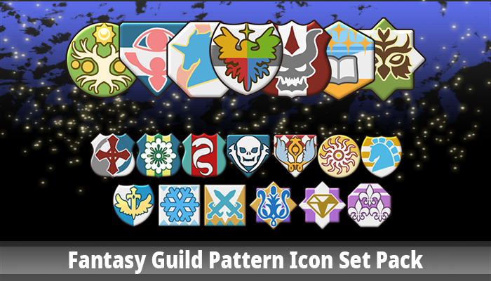 Fantasy Guild Pattern Icon Set Pack