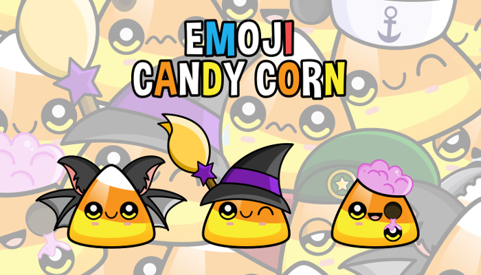 Emoji Emotion Faces Candy Corn