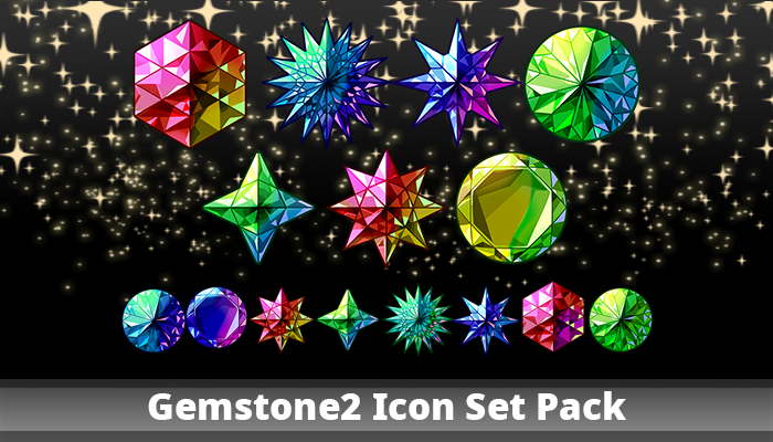 Gemstone2 Icon Set Pack