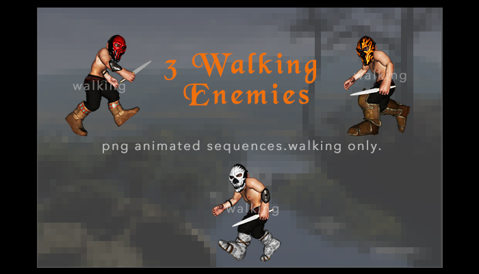 Animated Enemies with Knives