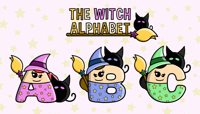 Assets For Children´s Games – The Witch Alphabet (ENG-SPAN.)