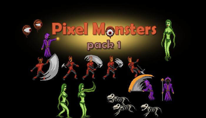 Pixel Monsters pack 1