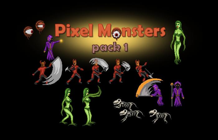 Pixel Monsters pack 1
