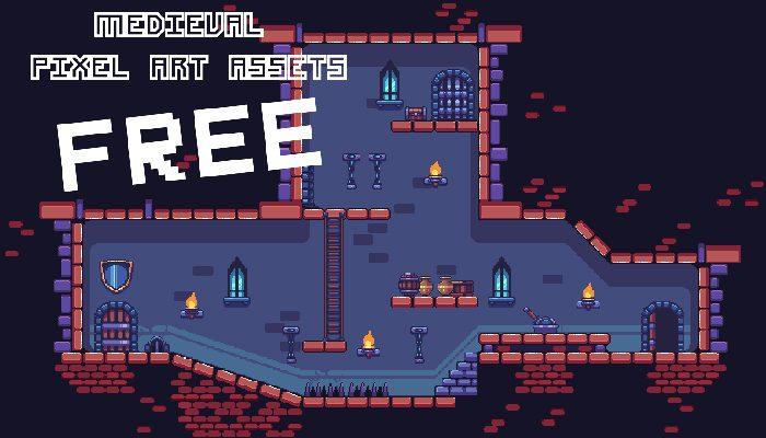 Medieval pixel art asset FREE