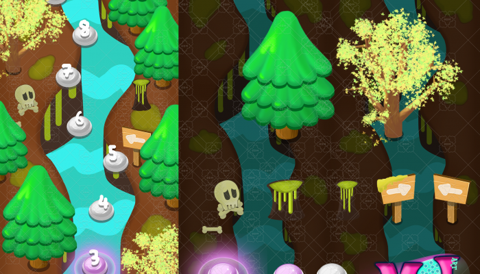 VERTICAL 2D GAME Level Map