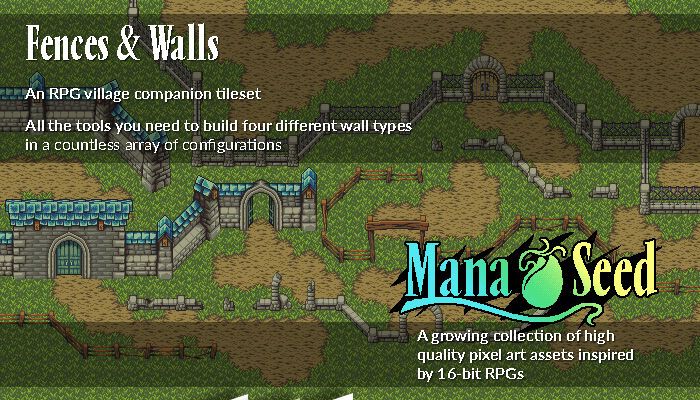 Fences & Walls – Pixel Art Asset