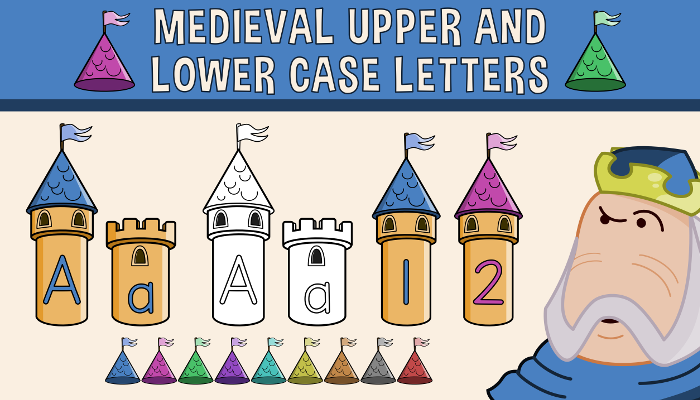 Medieval Upper and Lower Case Letters