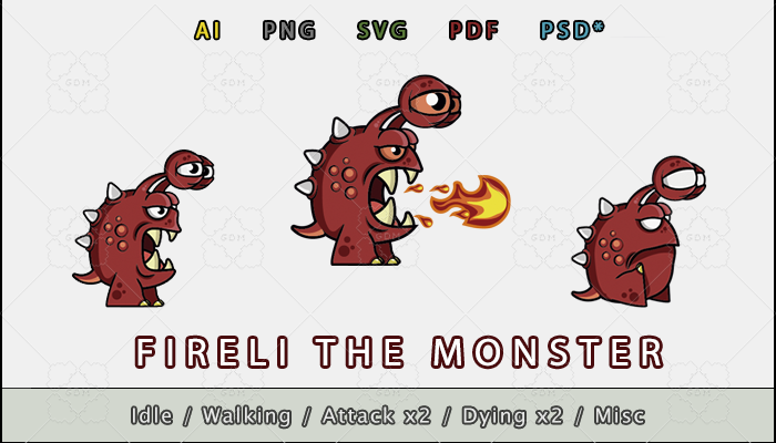Fireli the Monster