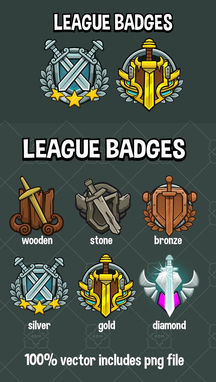 League badges
