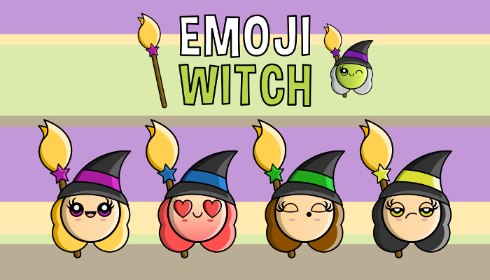 Halloween – Emoji Emotion Faces Witch