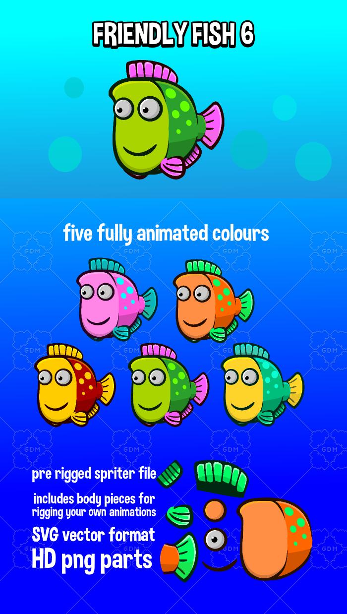 Animated friendly fish 6