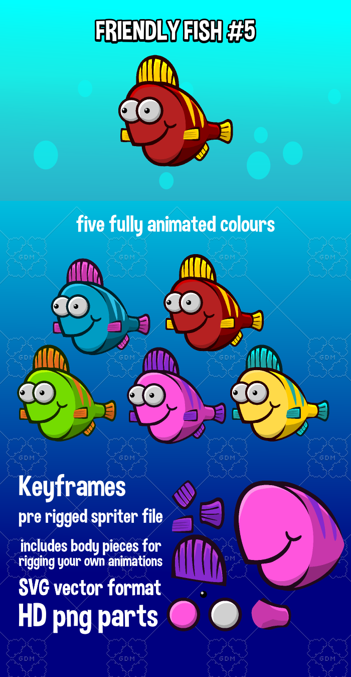 Animated friendly fish 5