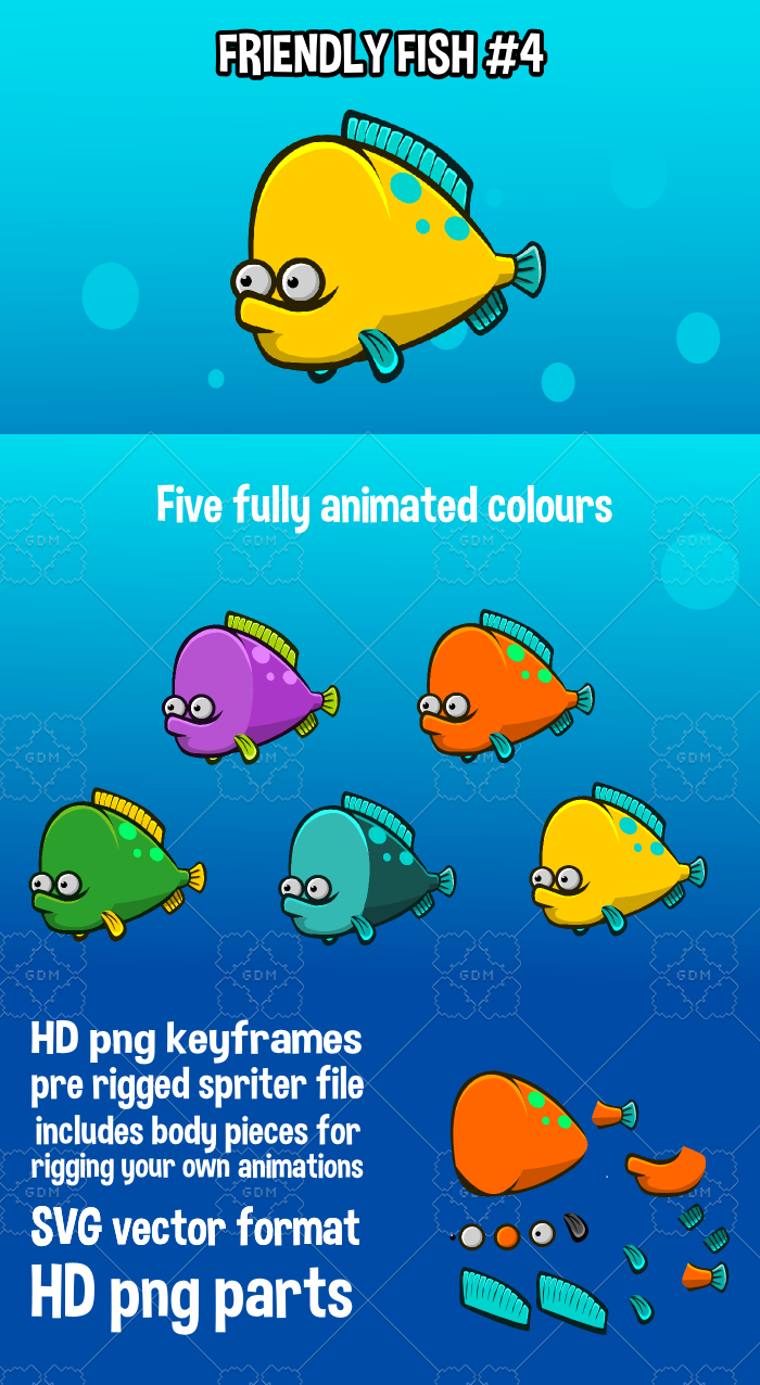 Animated friendly fish 4