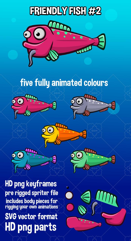 Animated friendly fish 2